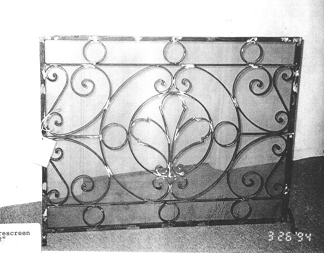 Renaissance Fireplace Screen 001